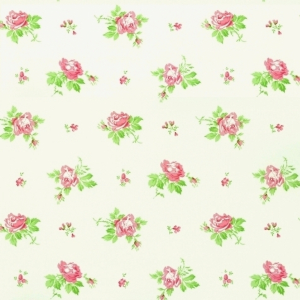 wallpaper by d ecorline ditsy roses pink white pink green 600x600