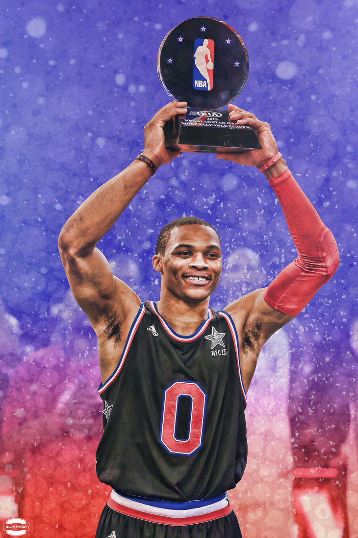 Russell westbrook wallpaper iphone wallpapersafari - Russell Westbrook Mvp By Newtdesigns On Deviantart