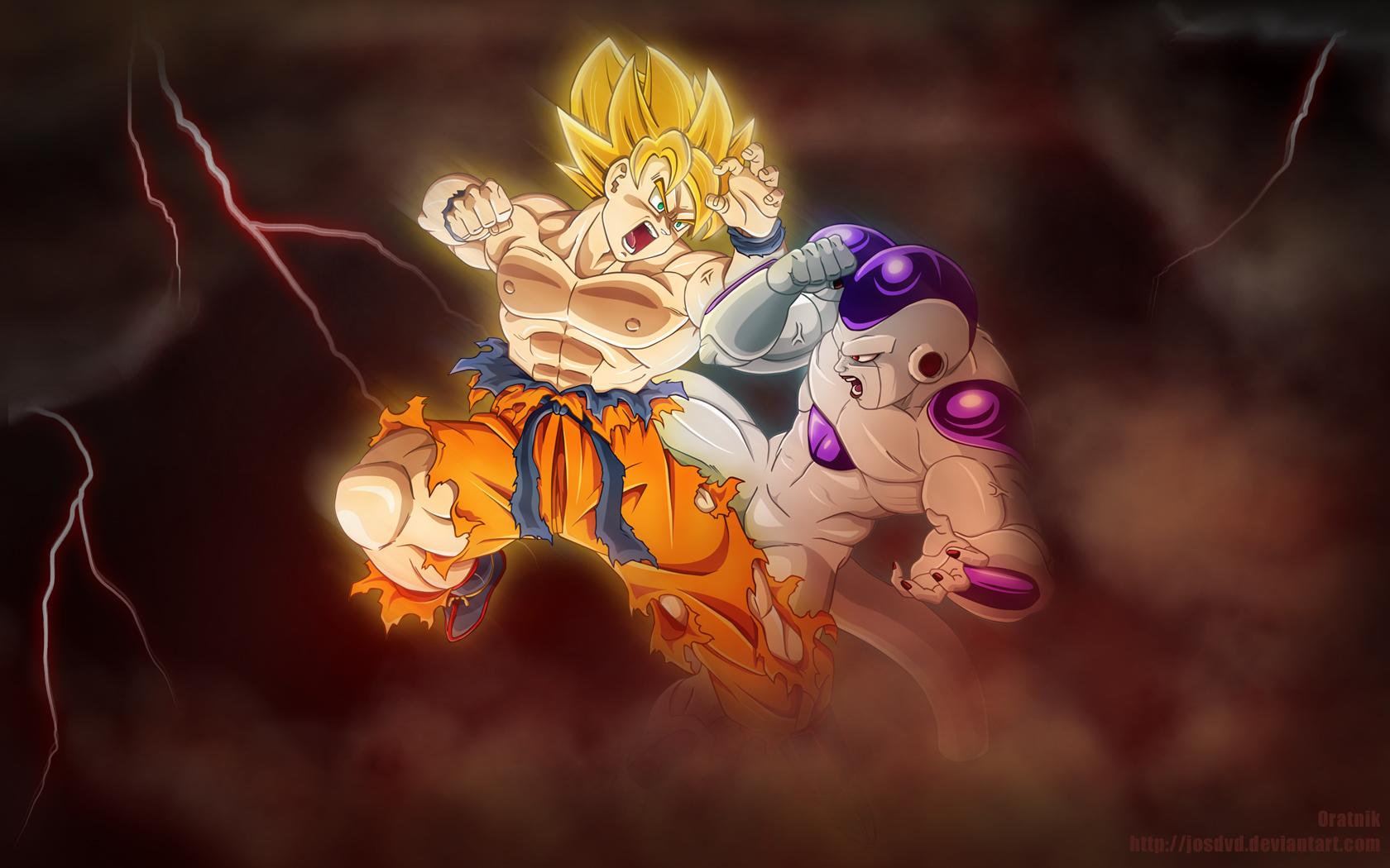 Son Goku Wallpaper 1680x1050 Son Goku Frieza Dragon Ball Z 1680x1050