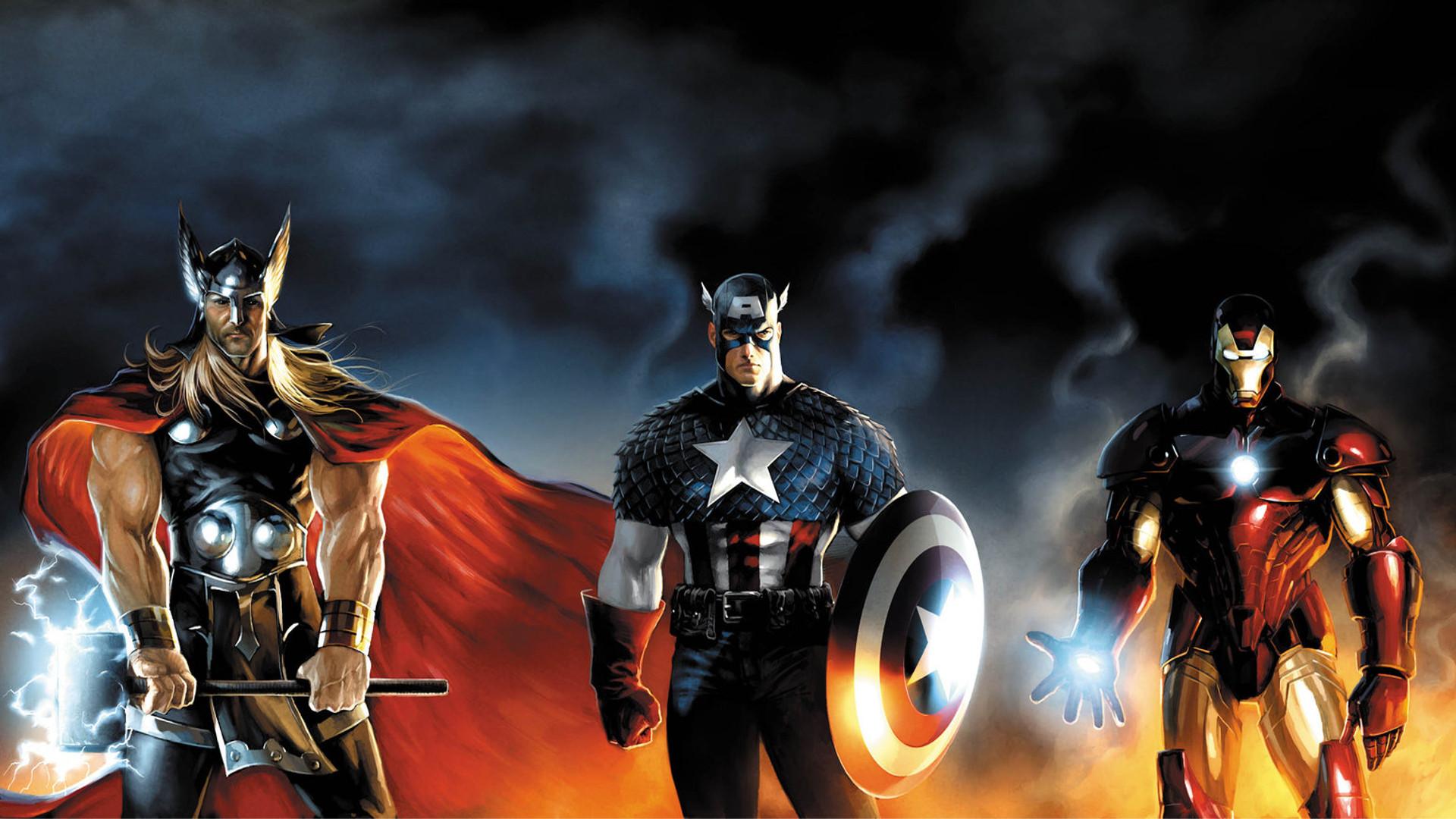 Iron Man Thor Captain America Marvel Comics Wallpapers 1920x1080