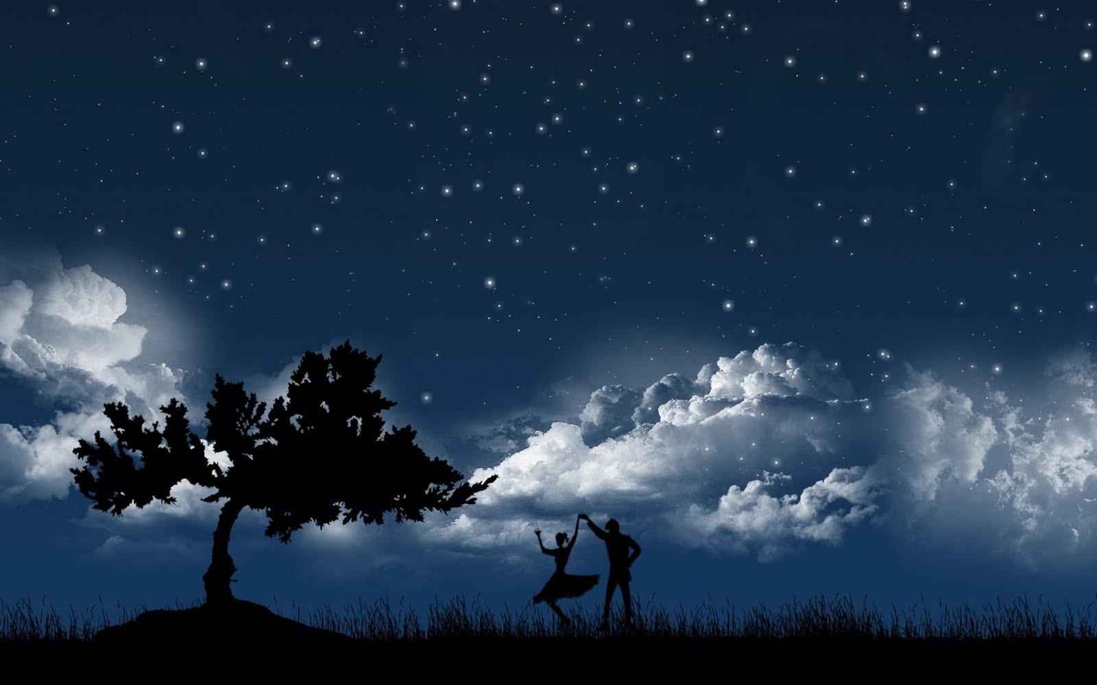 Beautiful night of sky wallpapers 1600x1000