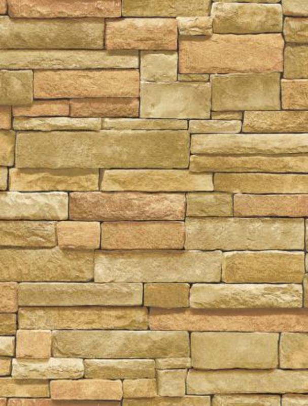 Stacked Stone Brick Wallpaper Textured Tuscan Vinyl LW1340924 eBay 607x800