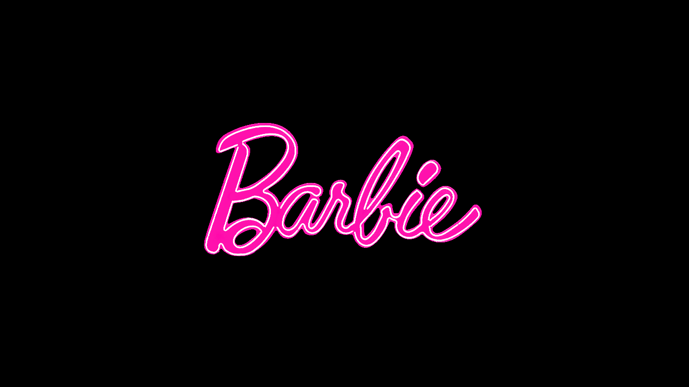 tumblr static black barbie logo wallpaper hd backgroundjpg 1366x768