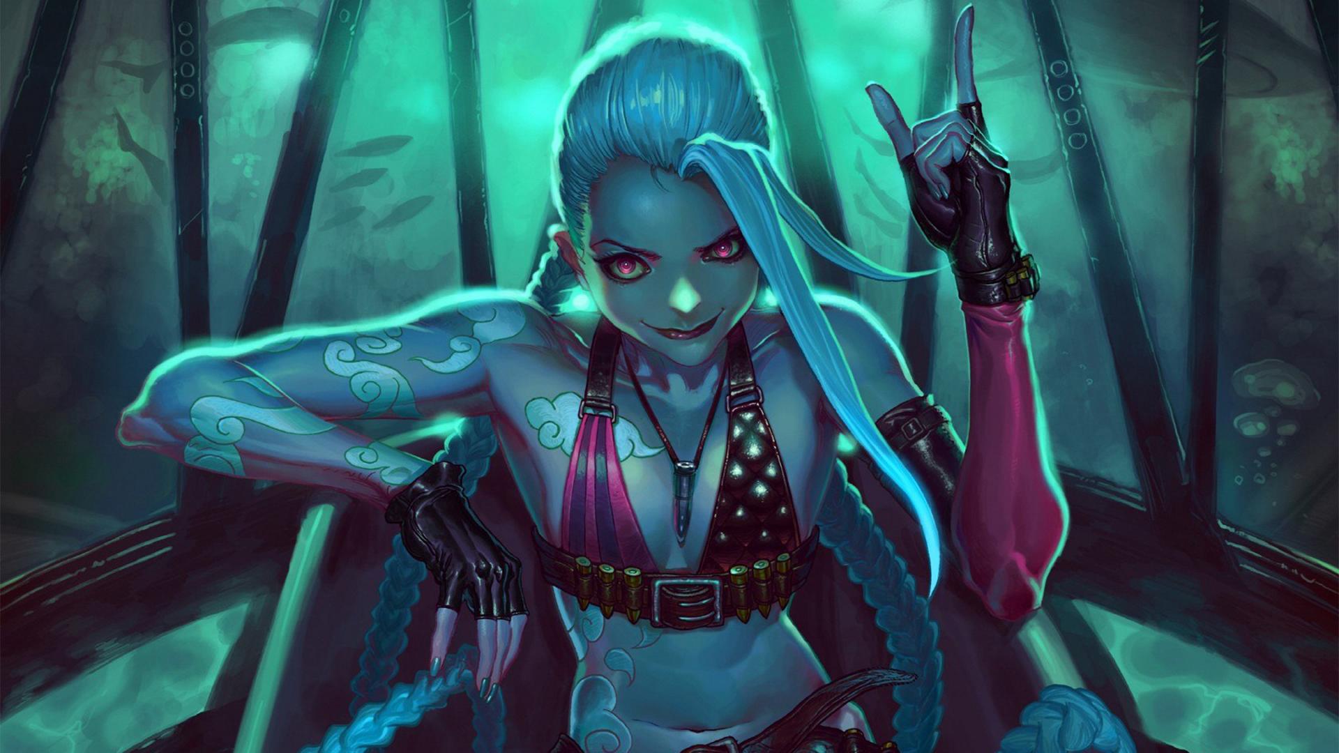 League of Legends Jinx fantasy f wallpaper 1920x1080 218942 1920x1080