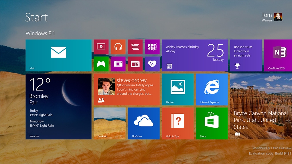 Windows 81 a first look at what Microsoft is changing The Verge 1020x574