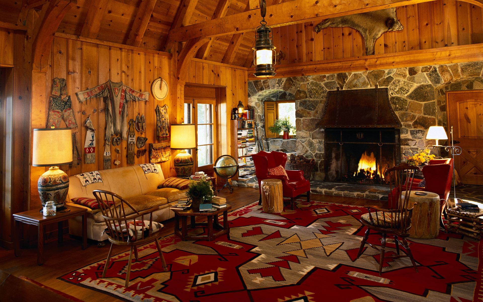 Log Cabin Christmas Wallpaper Wallpapersafari Fireplace Live