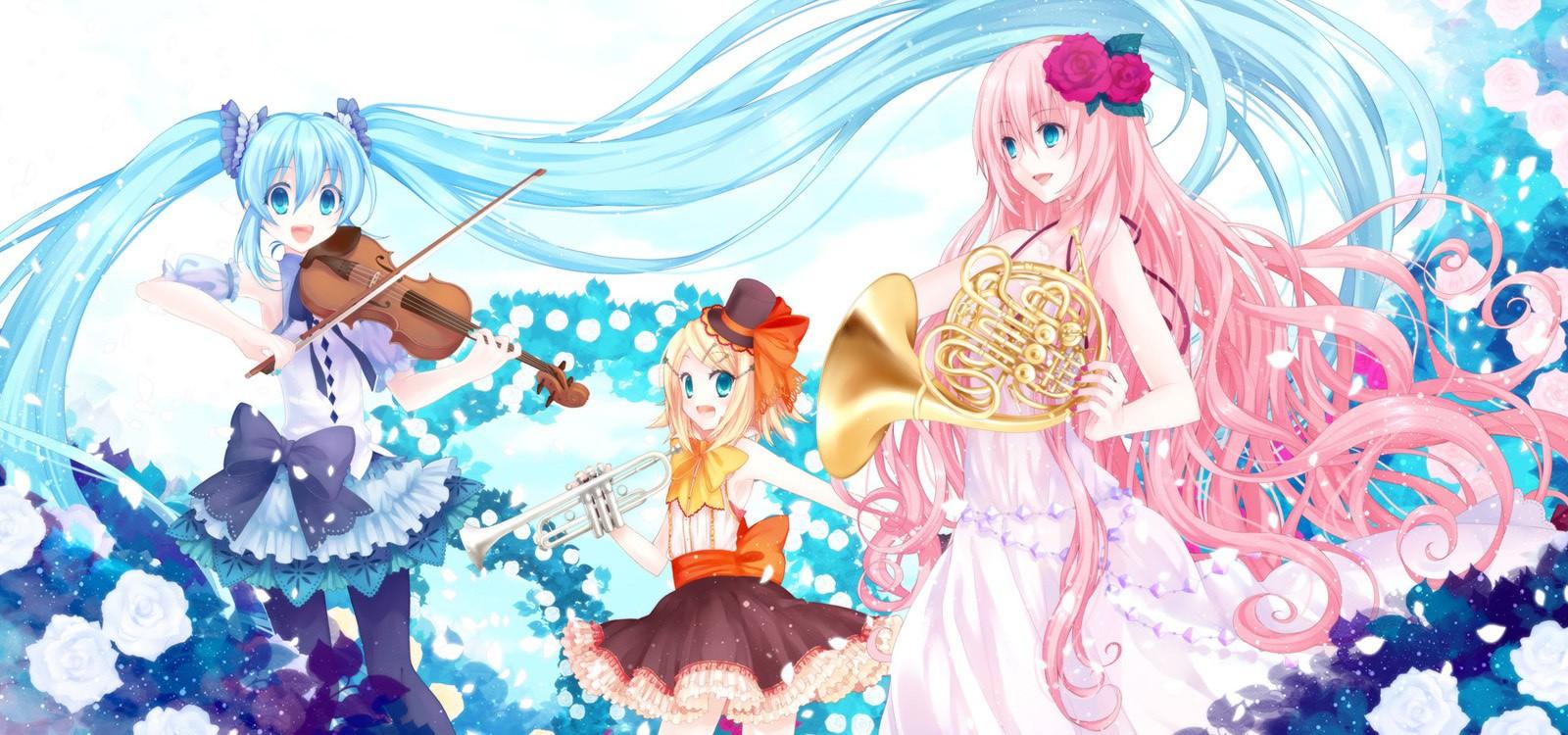 Group Of Vocaloid Kawaii Chibi Wallpaper