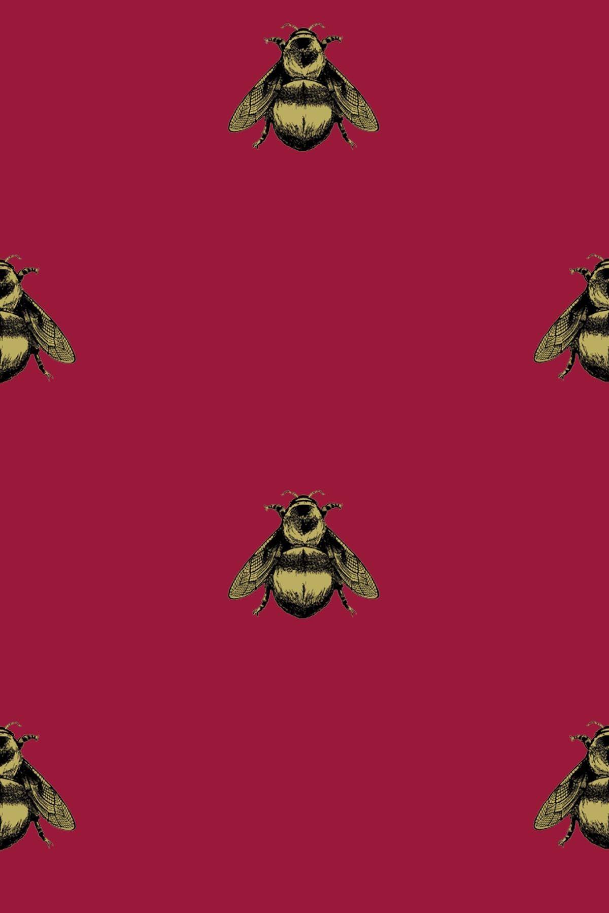 Timorous Beasties Wallcoverings   Napoleon Bee 1200x1798