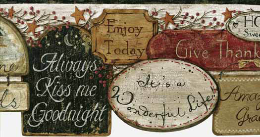 with primitive signs wallpaper border this charming wallpaper will add 525x277