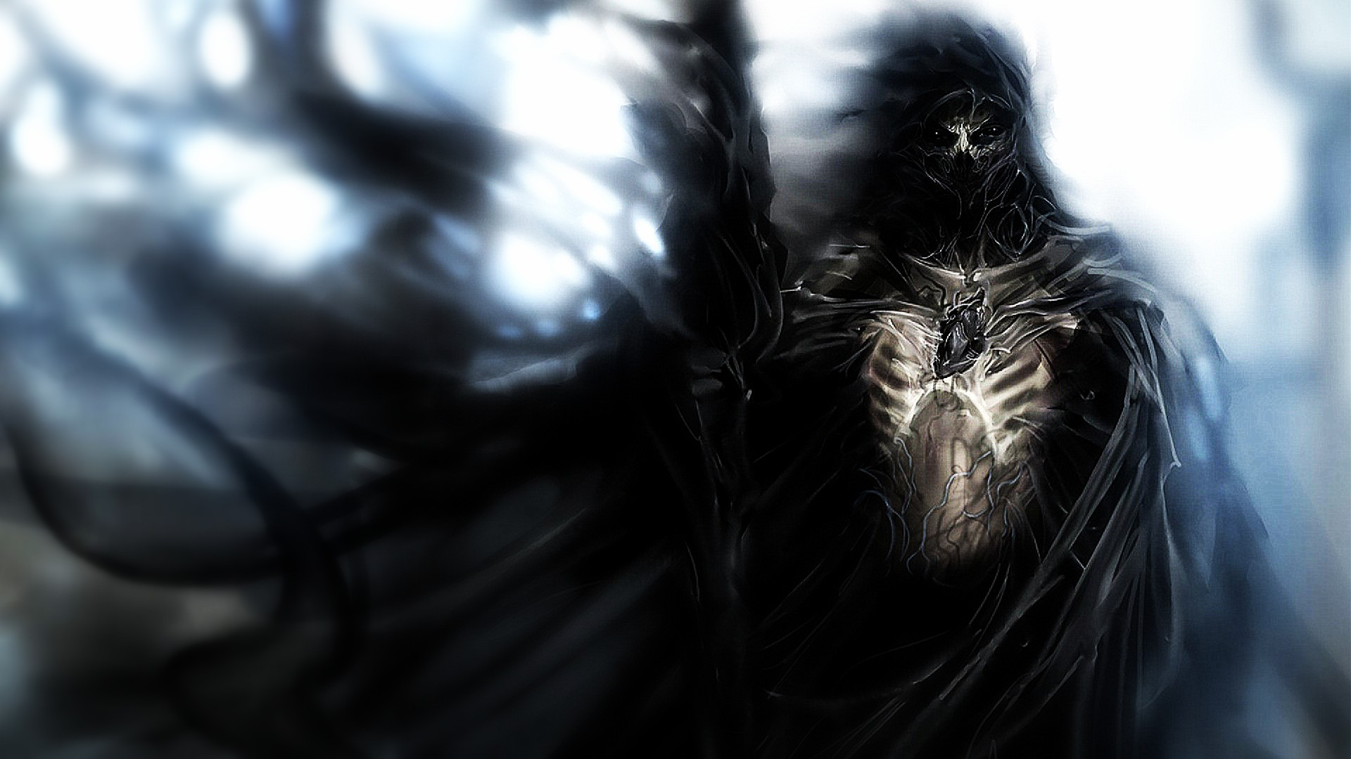 art dark horror evil knight reaper death gothic wallpaper background 1920x1080