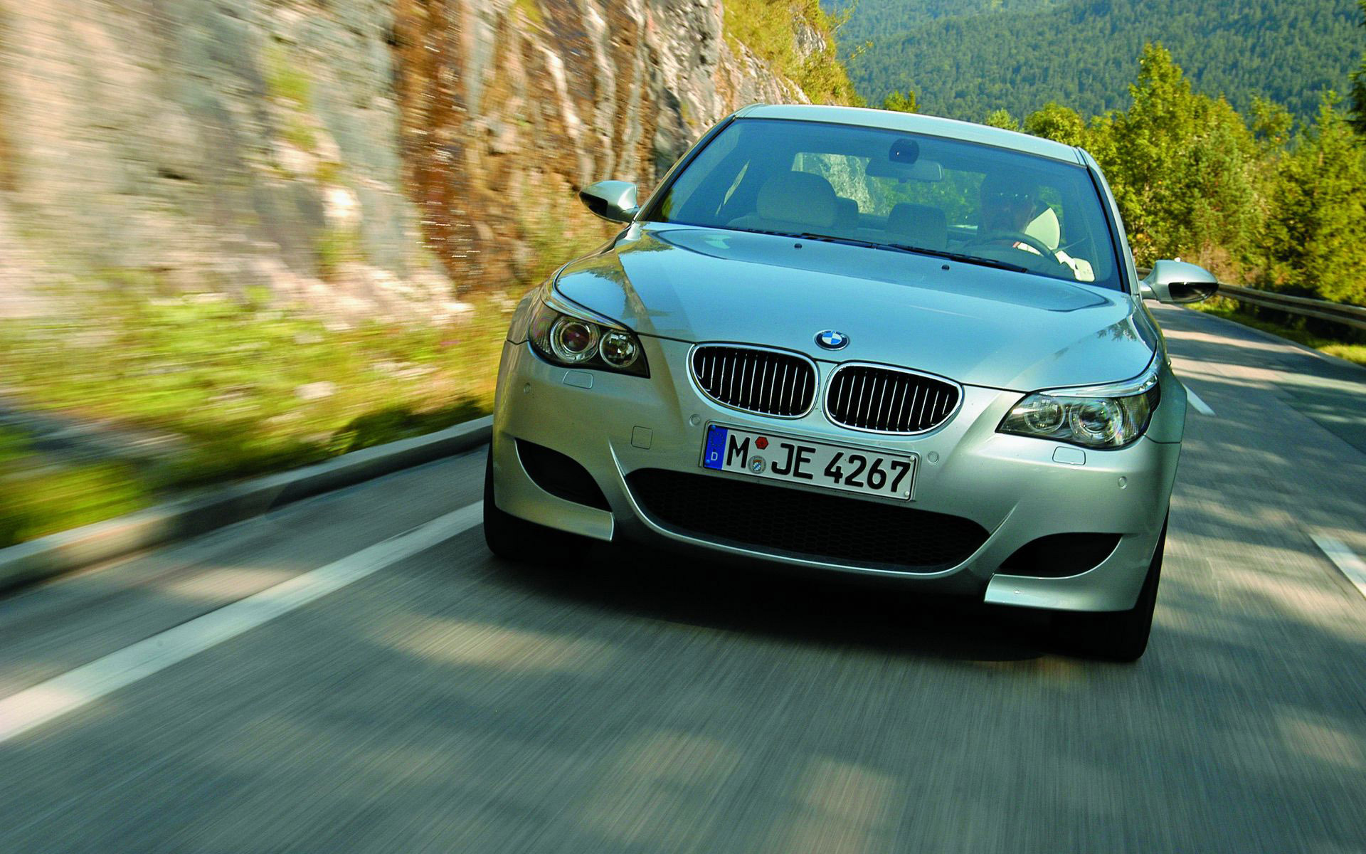 2006 BMW M5 in the mountains wallpaper 37284 1920x1200