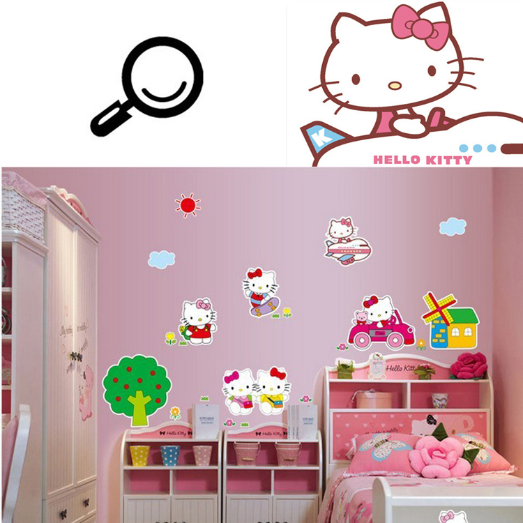 Cheap Sell Cute Cartoon Cat Wall sticker Wall Decal Removable 750x750
