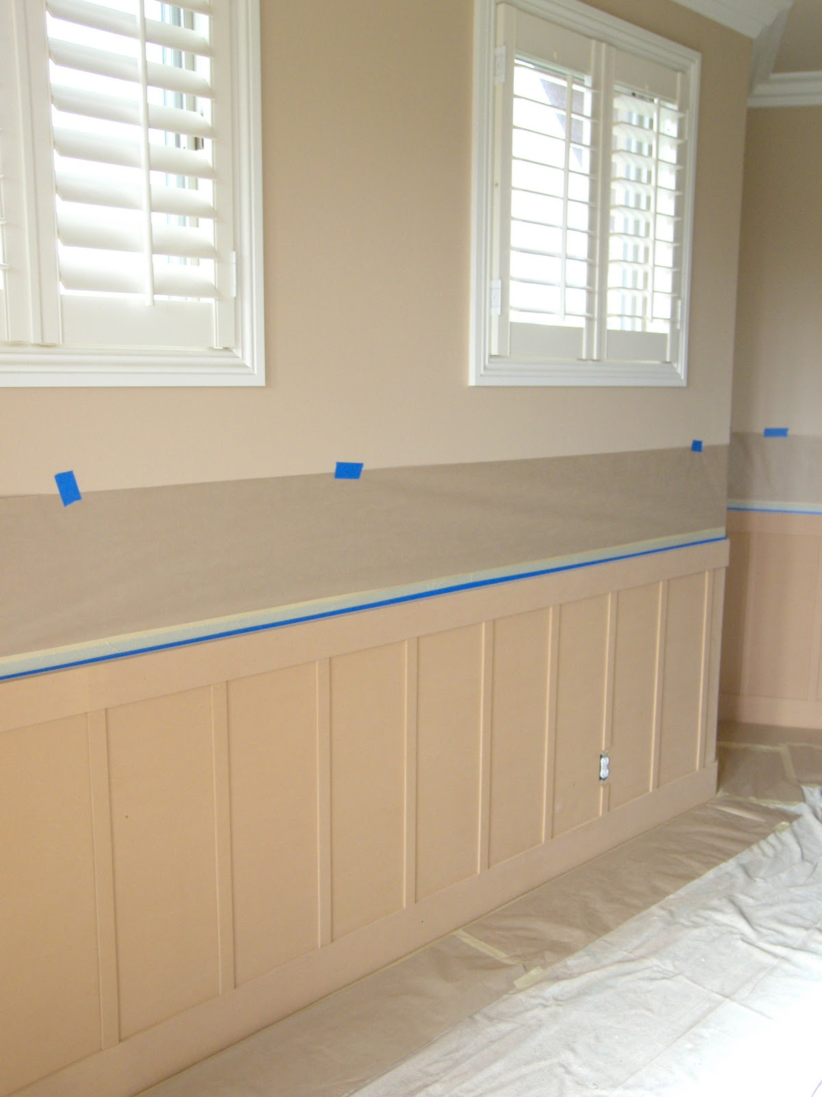 PROJECT 417MASTER BEDROOM REMODEL  WAINSCOT WALLPAPER AND PAINT 1200x1600