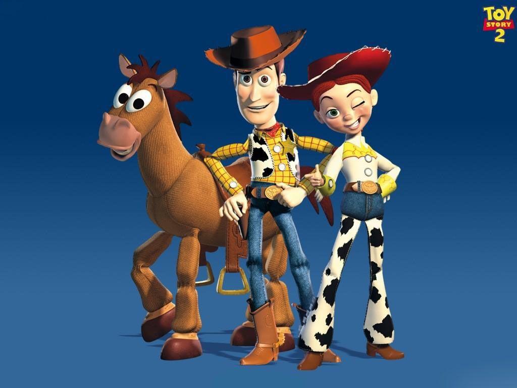 Woody Jessie And Bullseye Wallpaper 1024768   Toy Story Wallpapers 1024x768
