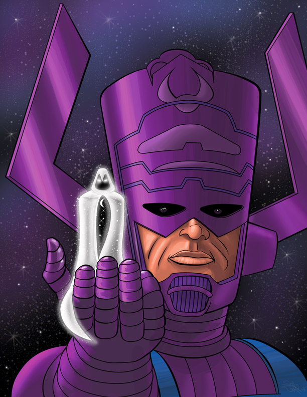 Moon Knight Herald of Galactus by psdguy 612x792