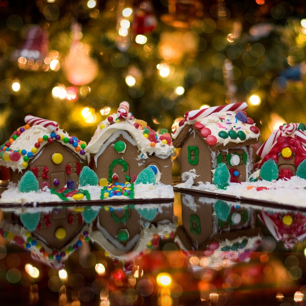 Christmas candy store iPad Wallpaper Download iPhone Wallpapers 1024x1024