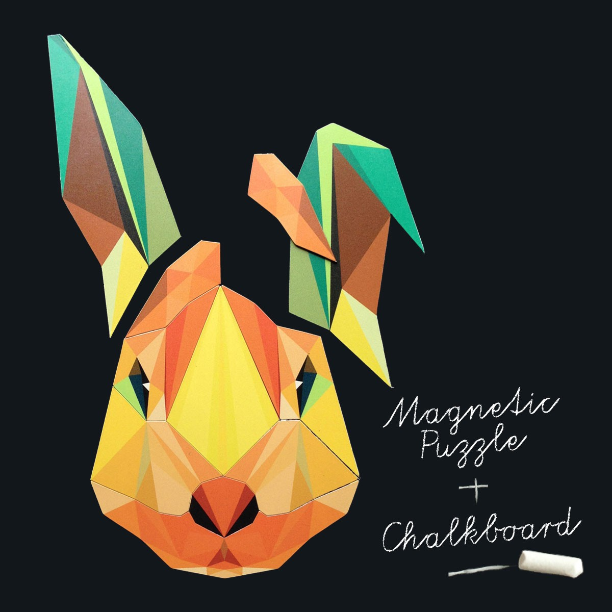Magnet puzzle rabbit chalkboard magnet wallpaper   Groovy Magnets 1200x1200