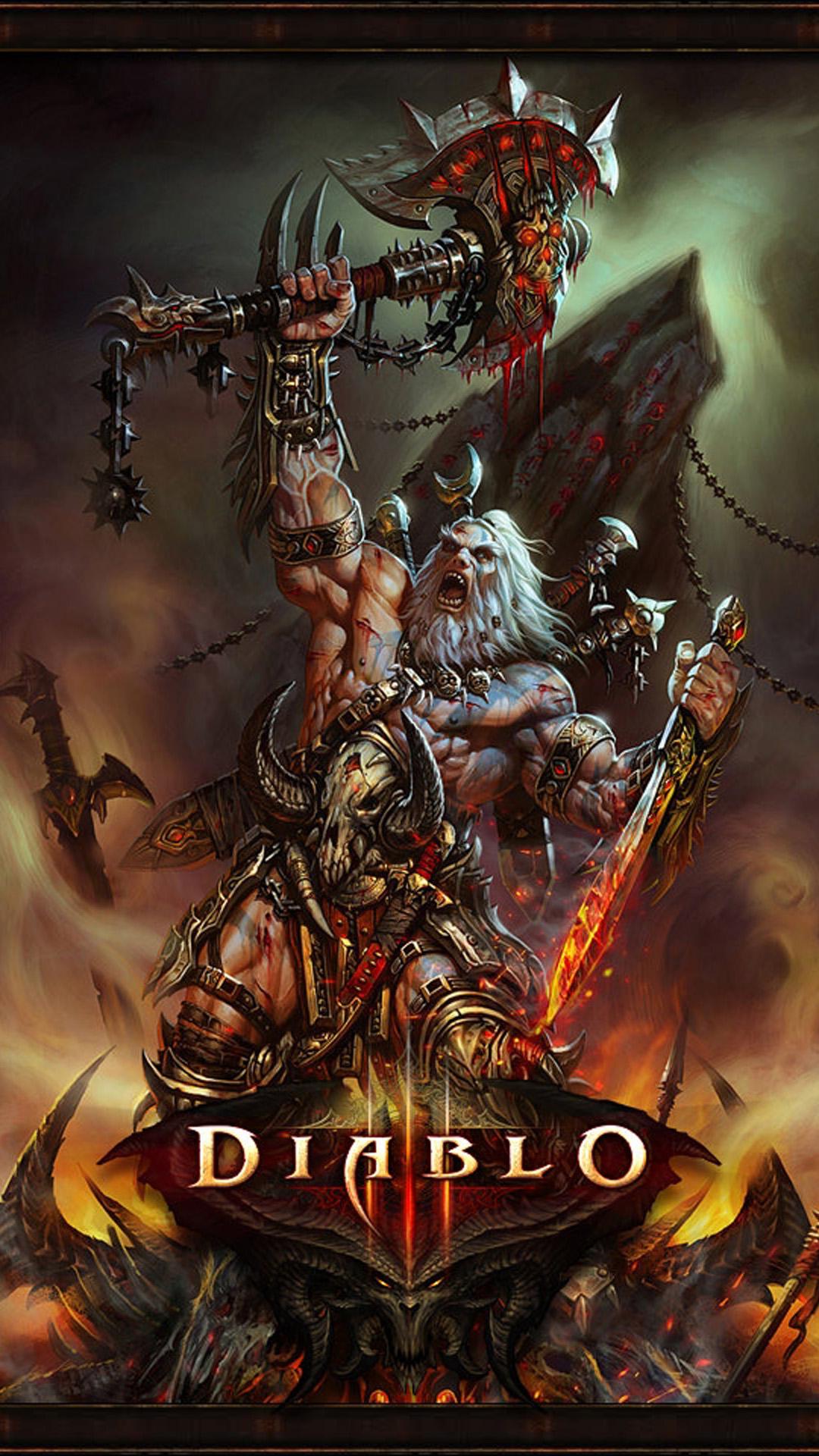 Diablo 3 barbarian Games Galaxy S5 wallpaper 1080x1920