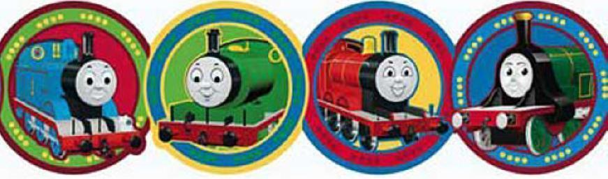 Thomas The Train Friends Logo Decor Decorate Boys Room Walls Wallpaper 871x257