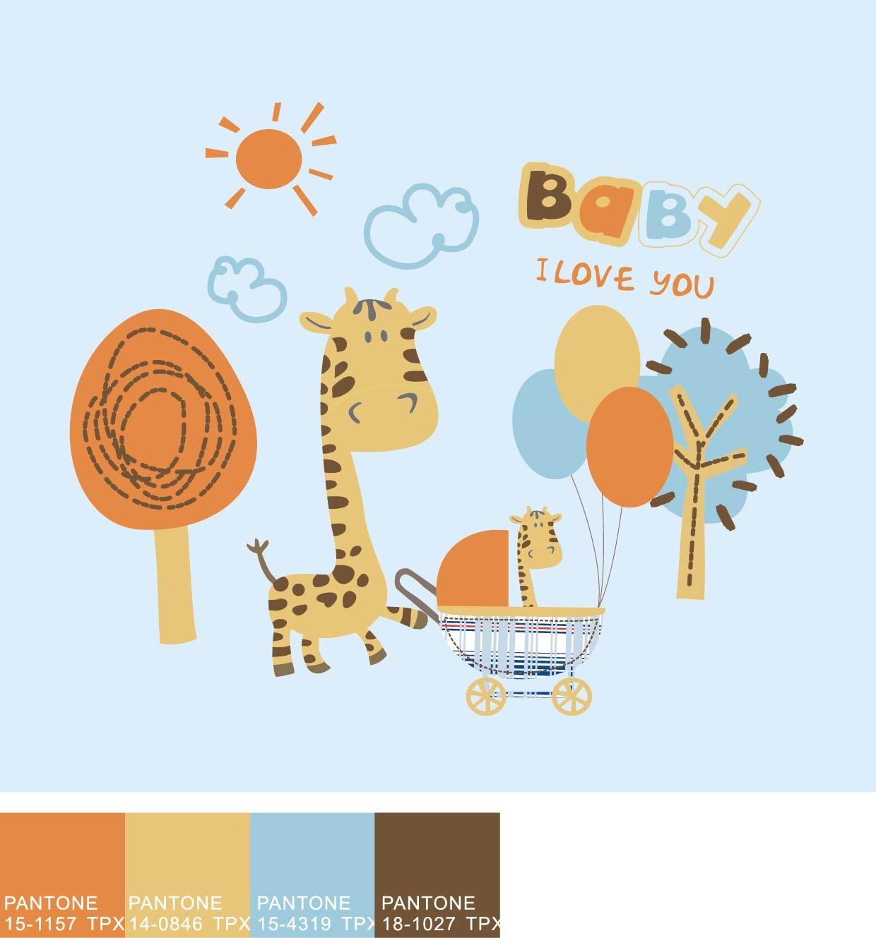 Cute cartoon animal backgrounds vector 1240x1329