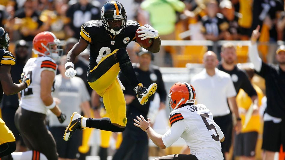 Antonio Brown Kick Wallpaper Antonio browns head kick gets 950x534