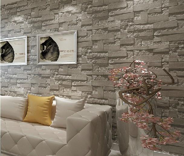 brick 3d stone wallpaper modern wallcovering pvc roll wallpaper 609x517