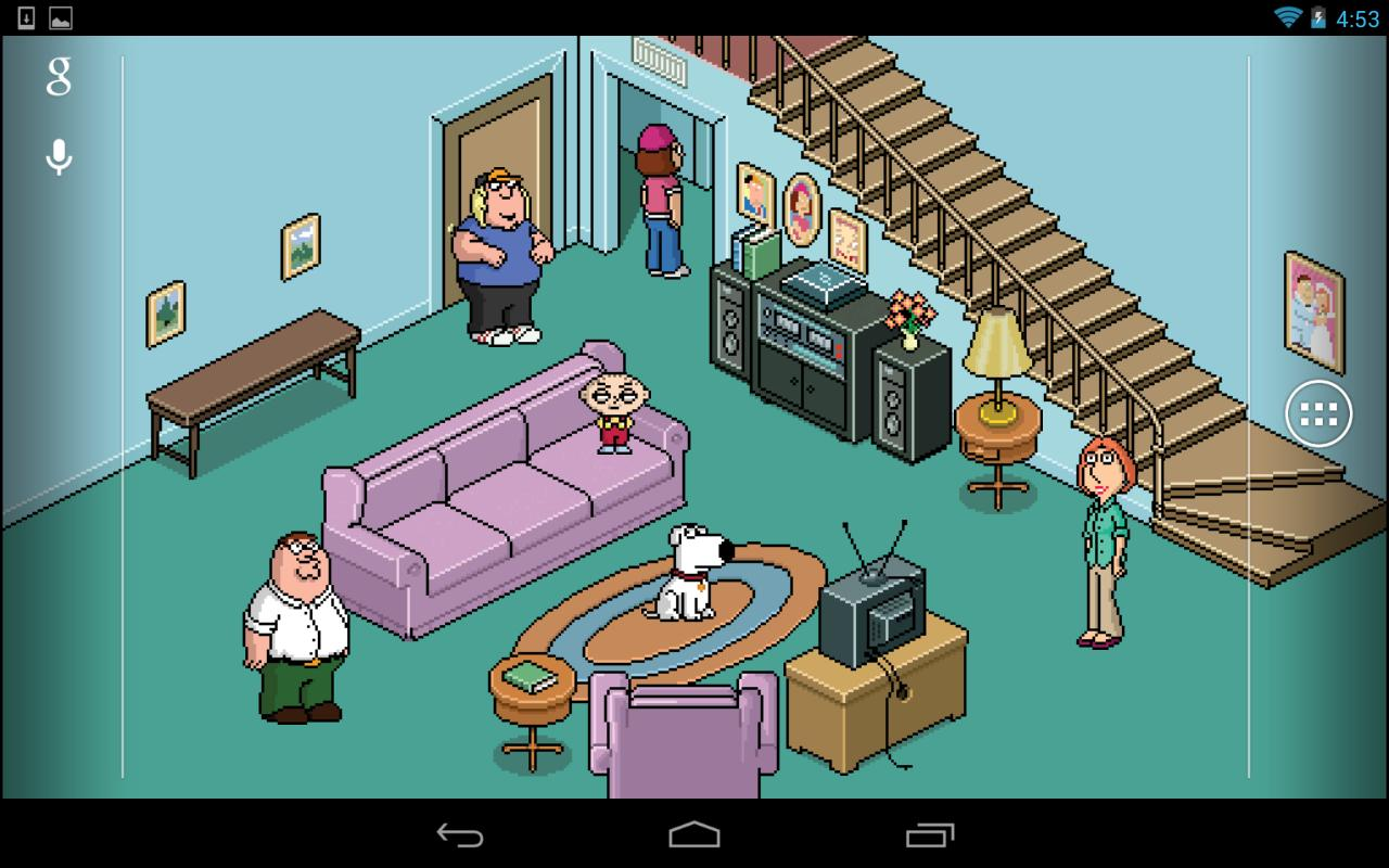 The latest and filthiest Family Guy Live Wallpaper app has arrived 1280x800
