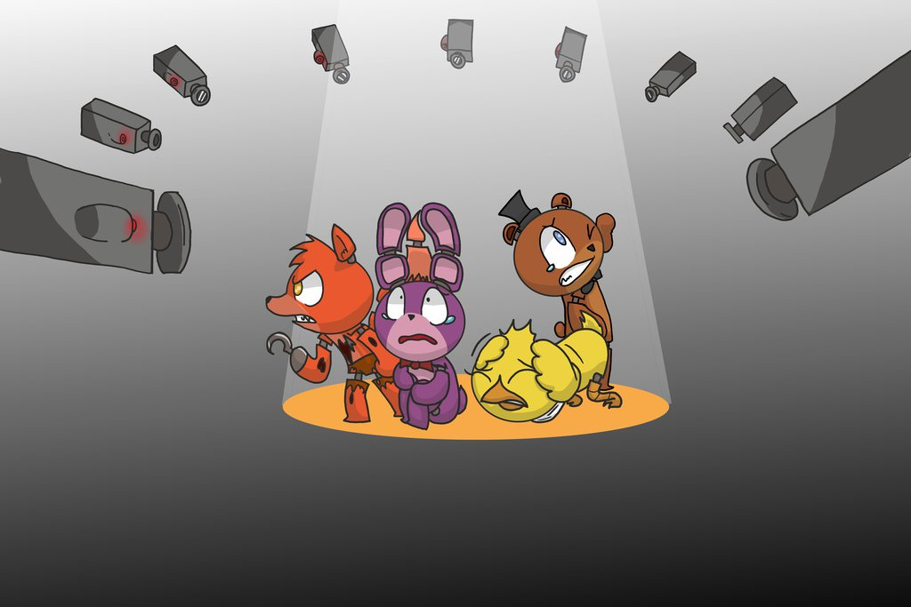 Fnaf  We Are Watching You by Creeperchild 1024x683
