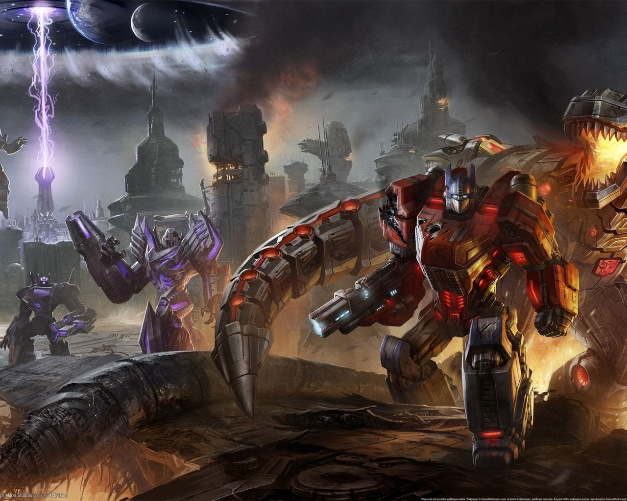 Transformers Fall of Cybertron HD Game Wallpapers 17 1280x1024