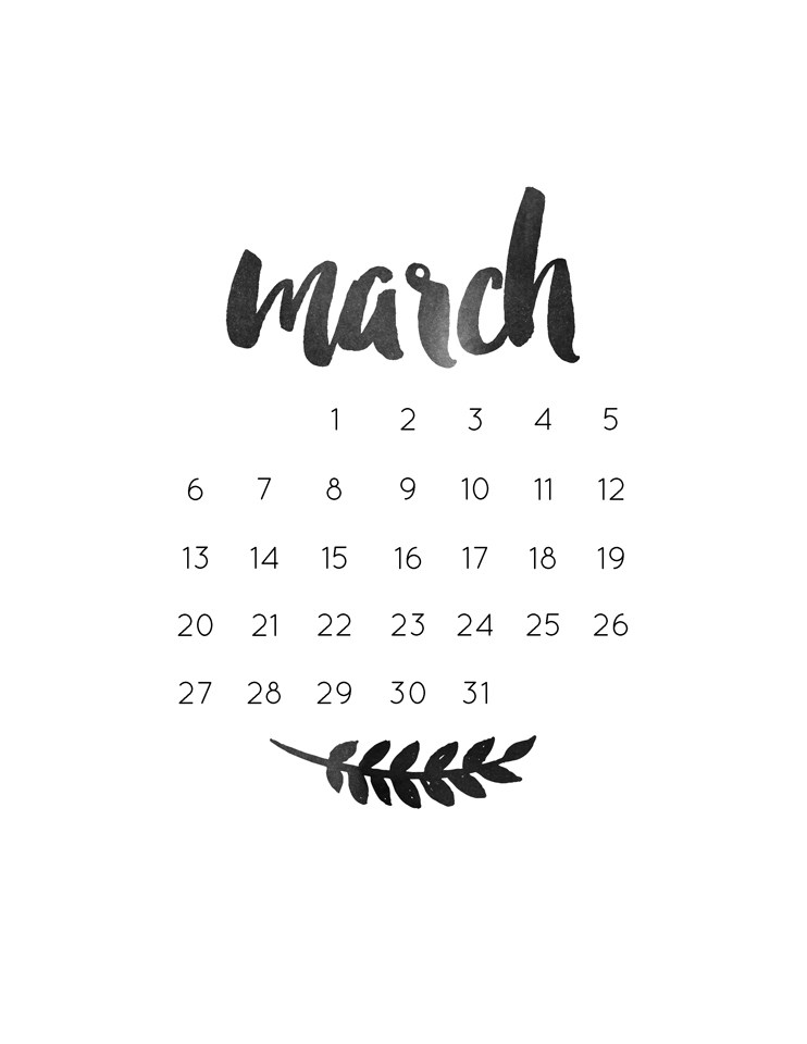 monthly freebie March Bullet and Wallpaper 742x960