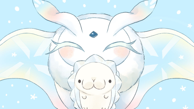 cyan frosmoth pokemon polychromatic siratamairipafe snom 1500x844