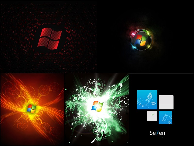 Free download Download Windows 7 Black Edition Animated