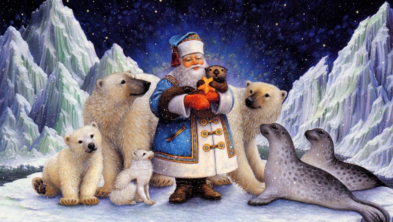 Northpole Christmas Wallpapers Sweet Images 1360x768