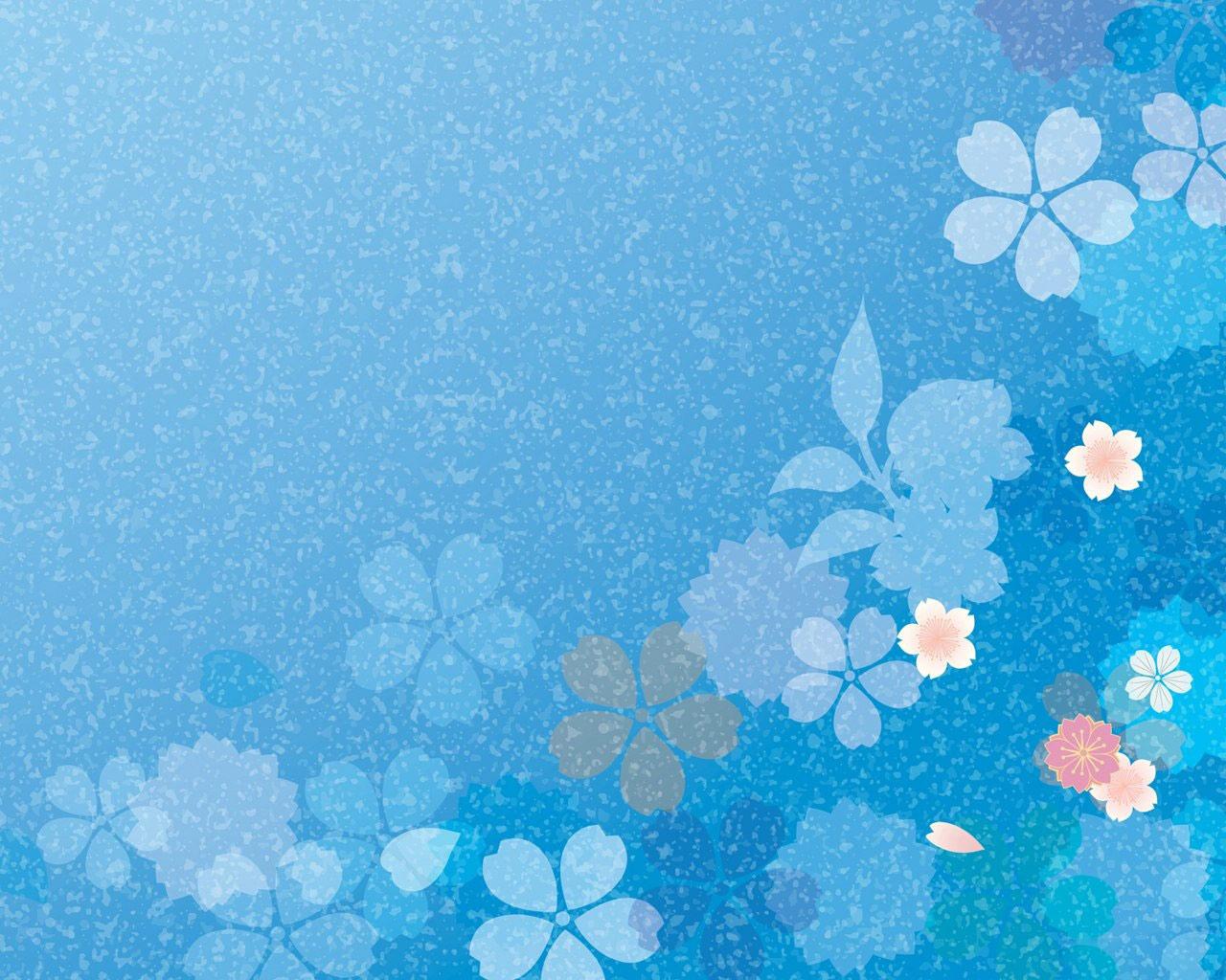 Blue Flower Background Microsoft Windows 7 Theme 1280x1024