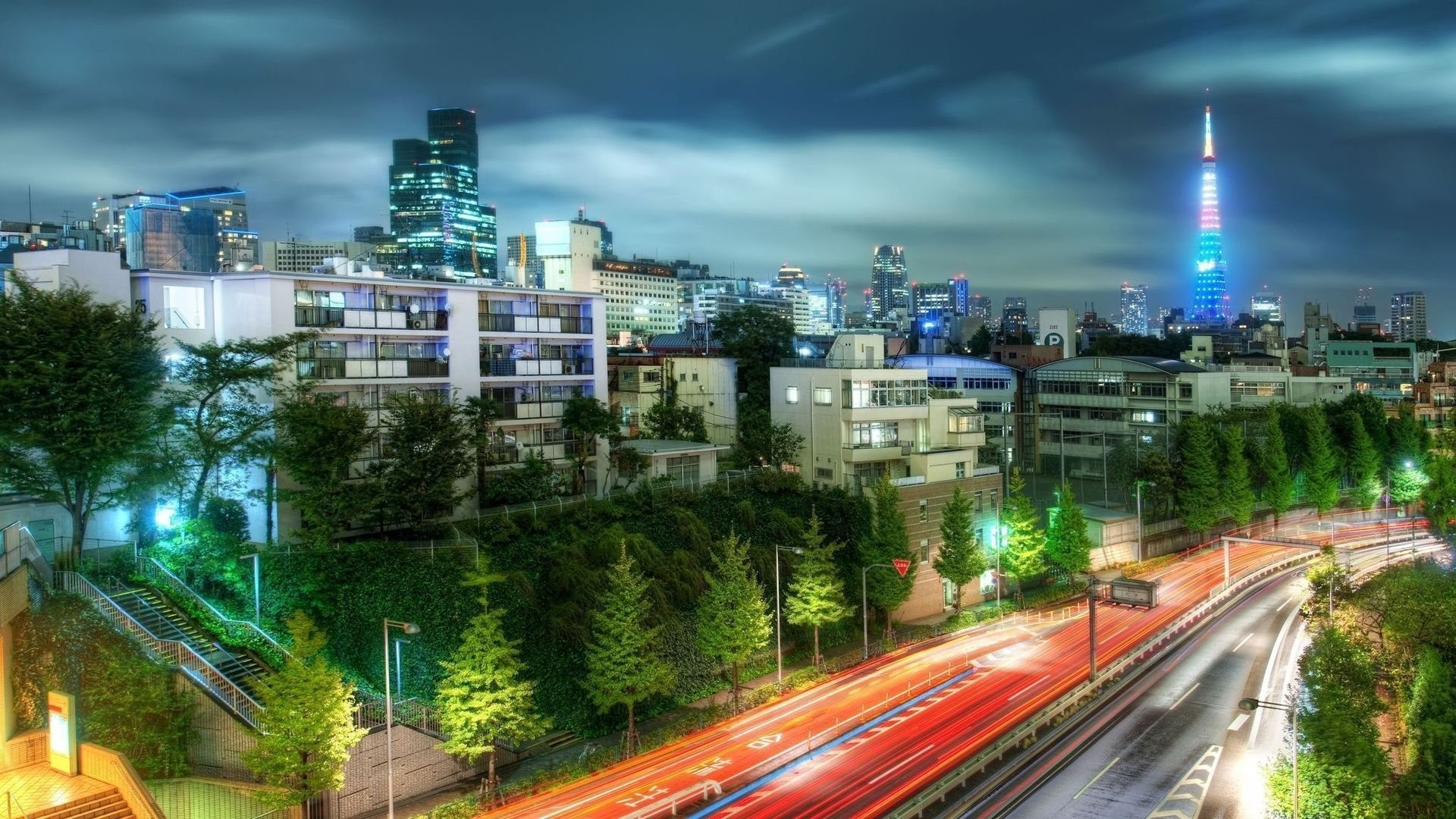 Japan tokyo cityscapes night wallpaper 4948 PC 1920x1080