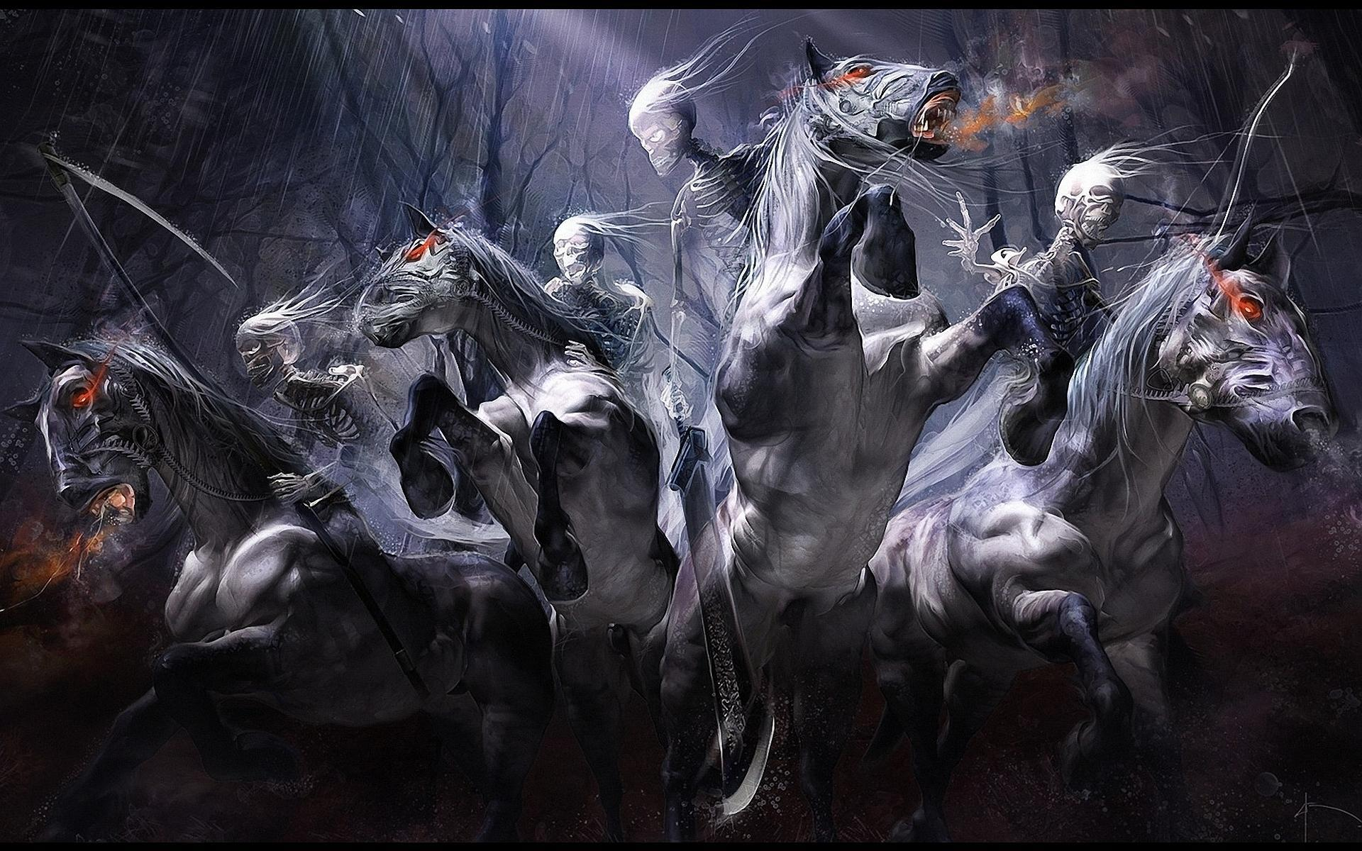 Four Horsemen Of The Apocalypse Wallpaper Darksiders   wallpaper 1920x1200