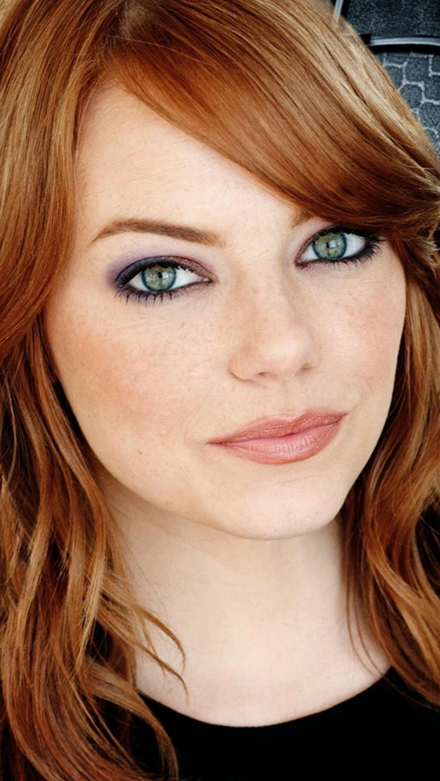 Sexy Emma Stone iPhone wallpapers 640x1136