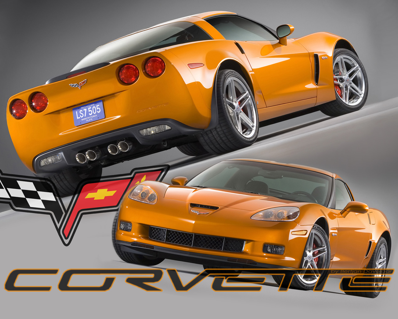 Corvette C6 Z06 wallpaper 1280x1024