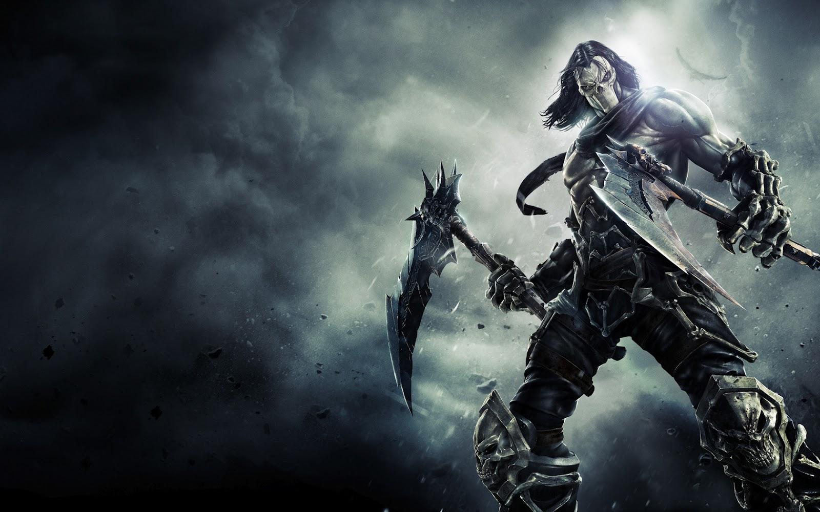 Dark Siders Horseman Skull Axes 6577 Wallpaper Wallpaper hd 1600x1000