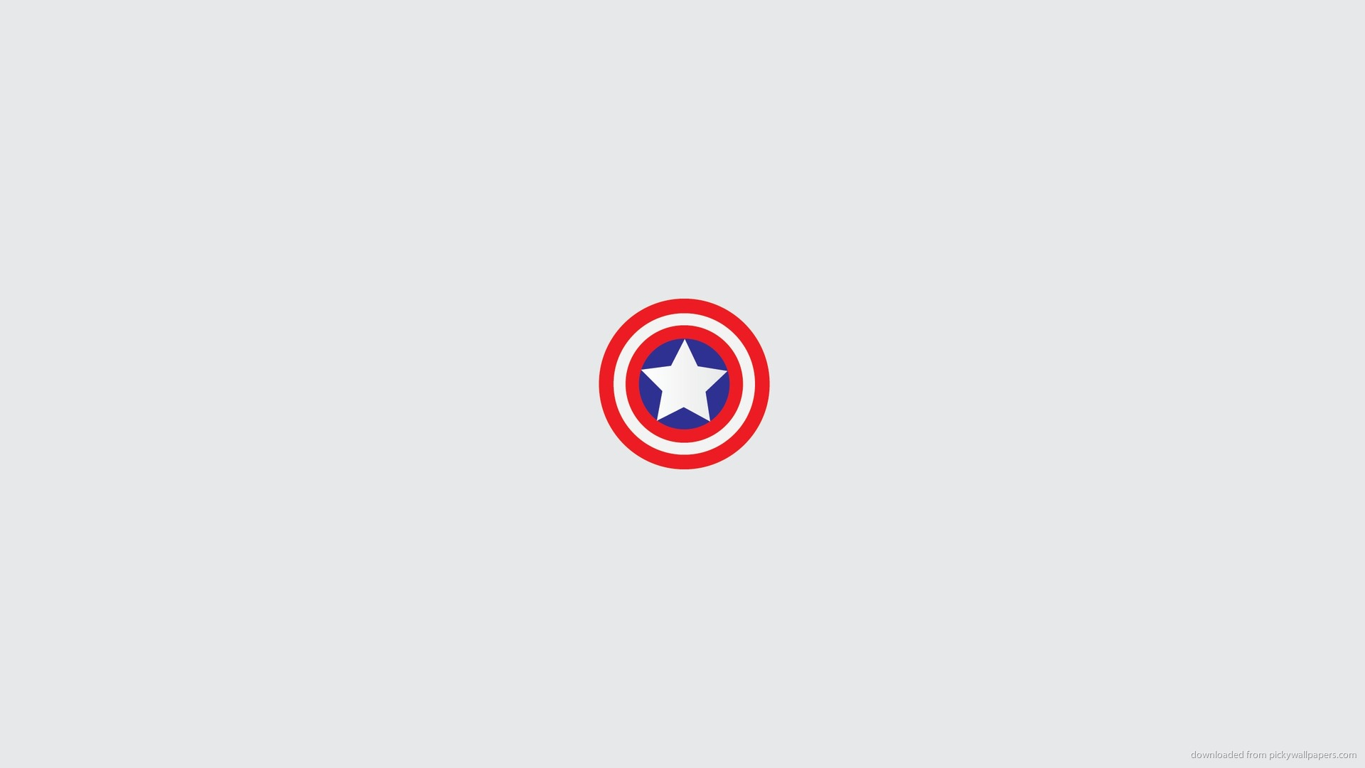 Minimal Captain America Shield Wallpaper For iPad 2 1920x1080
