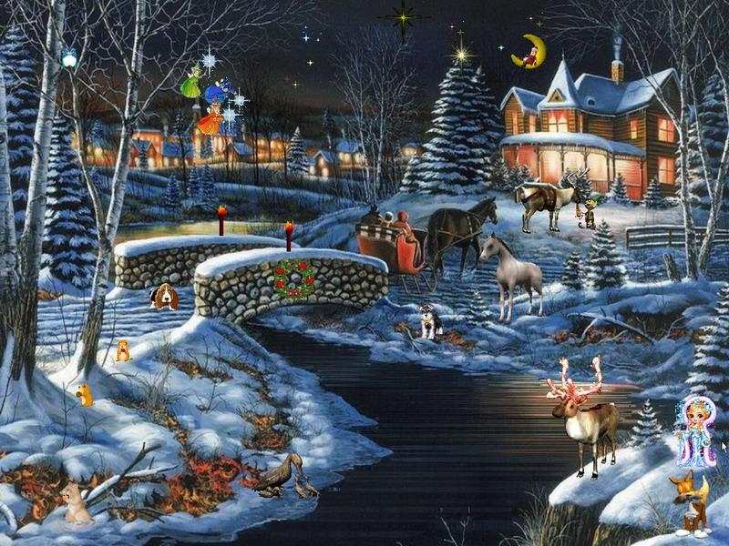 Winter Screensaver   Winter Fantasy 2   FullScreensaverscom 800x600