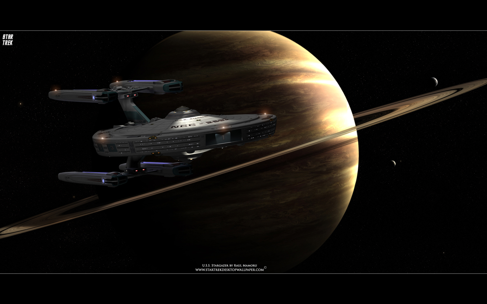 Star Trek USS Stargazer   Star Trek computer desktop wallpaper 1680x1050