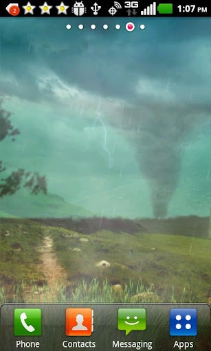 Tornado Storm Clouds Live Wallpaper This Shows A Very 307x512