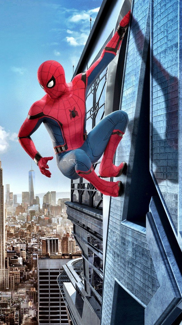 Wallpaper Spider Man Homecoming 4k Movies 13792 640x1138