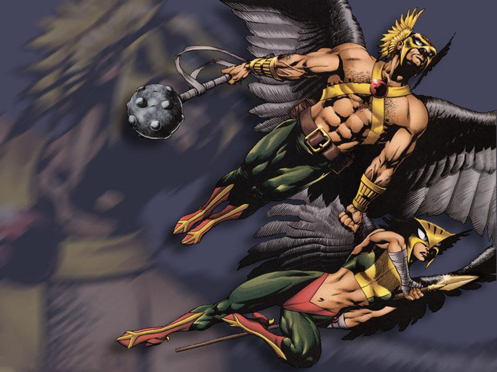Hawkman and Hawkgirl   funkyrach01 Wallpaper 15338852 1024x768