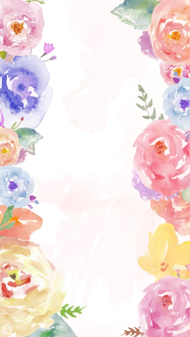 Iphone Wallpapers Iphone Backgrounds Funds Watercolor Backgrounds 640x1136
