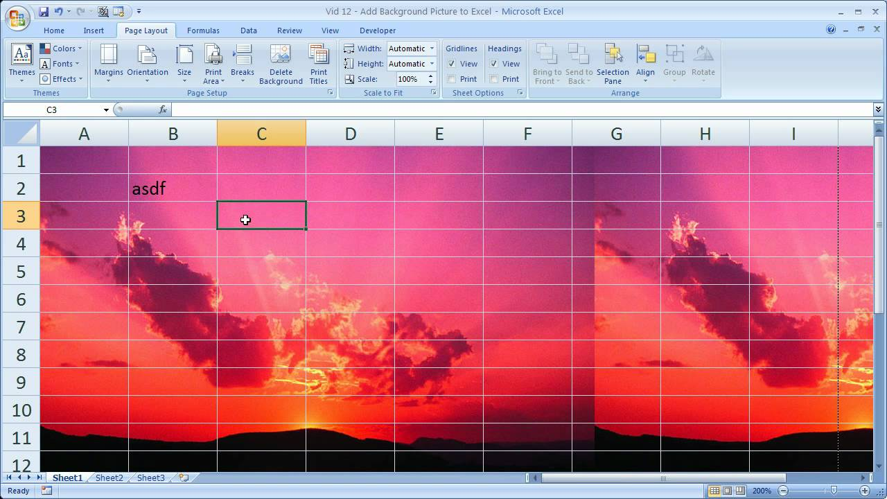 Excel Tips 12   Add Background Pictures to Excel Spreadsheets 1280x720