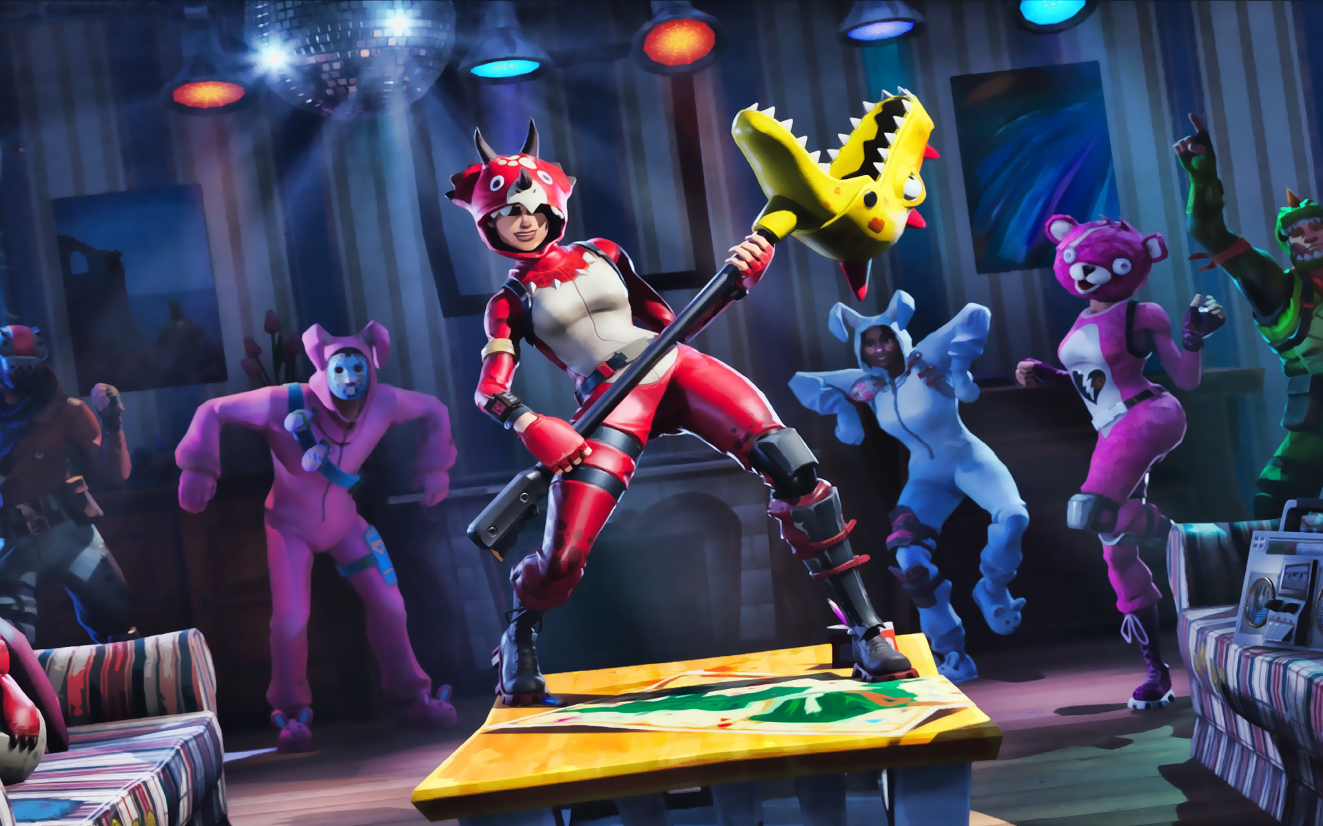 Download wallpapers Tricera Ops party Fortnite Battle Royale 1920x1200