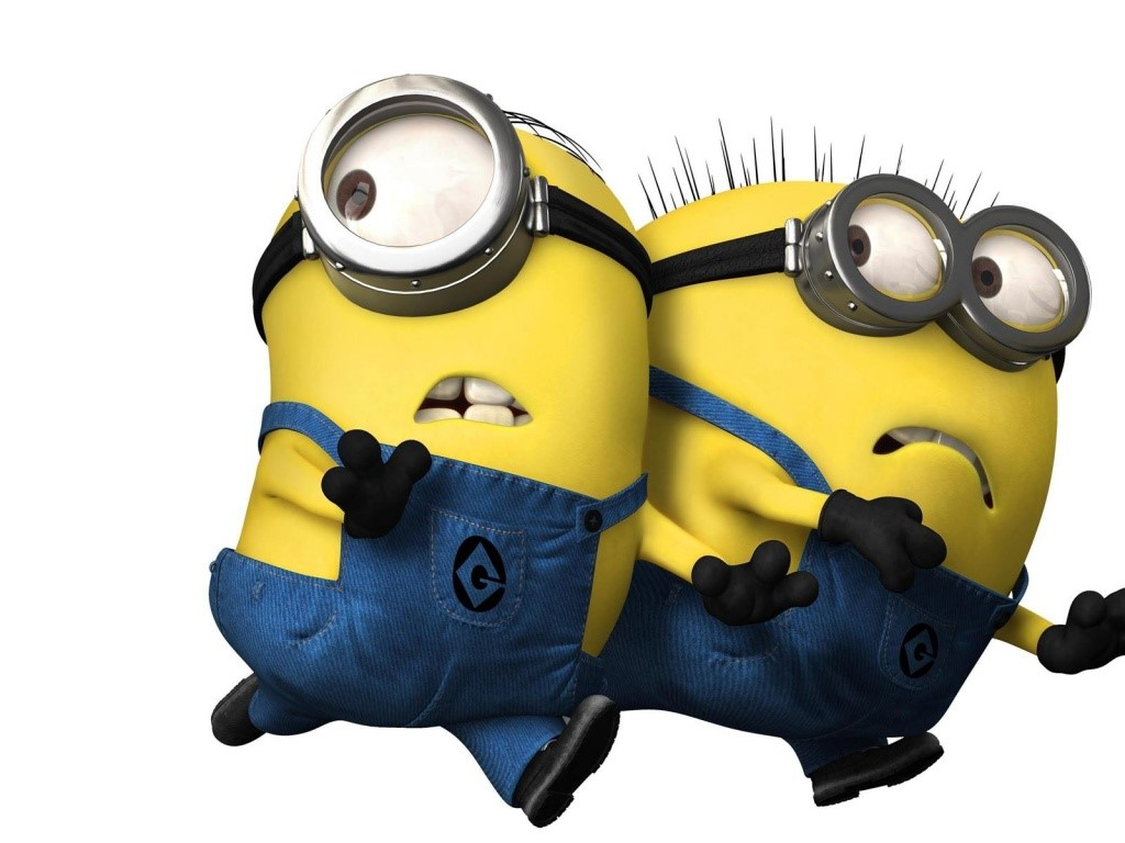 Wallpaper para Windows Vista y Windows 7 con la imagen de los Minions 1024x768