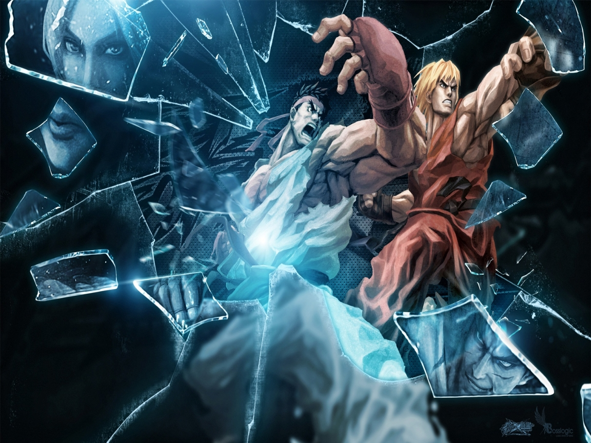 Ryu and Ken Wallpaper 1152x864